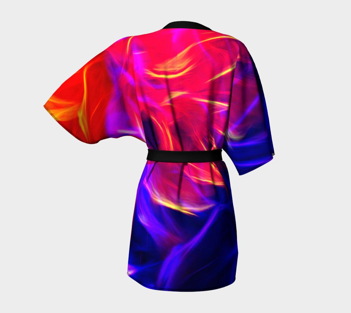 Electrified Dahlia Kimono Robe preview #4