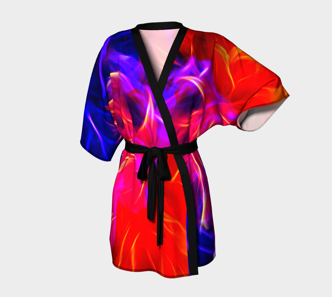Electrified Dahlia Kimono Robe preview #1