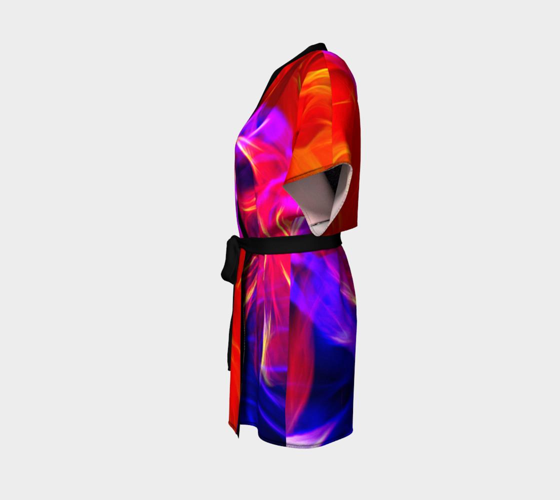 Electrified Dahlia Kimono Robe preview #2