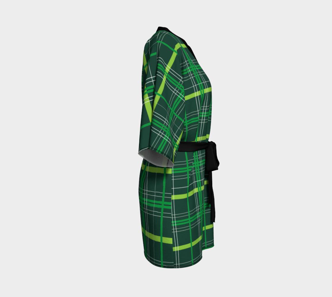 Aperçu de St. Patrick's Day Plaid - Dark Green #3