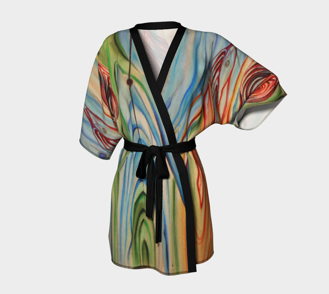 Aperçu 3D de Wood Grain Dressing Robe