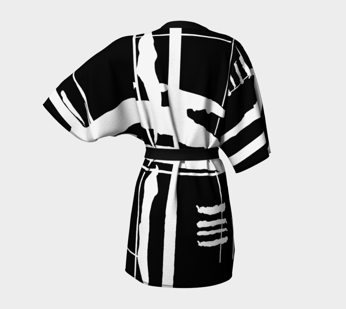 Aperçu de When East Meets West Kimono #4