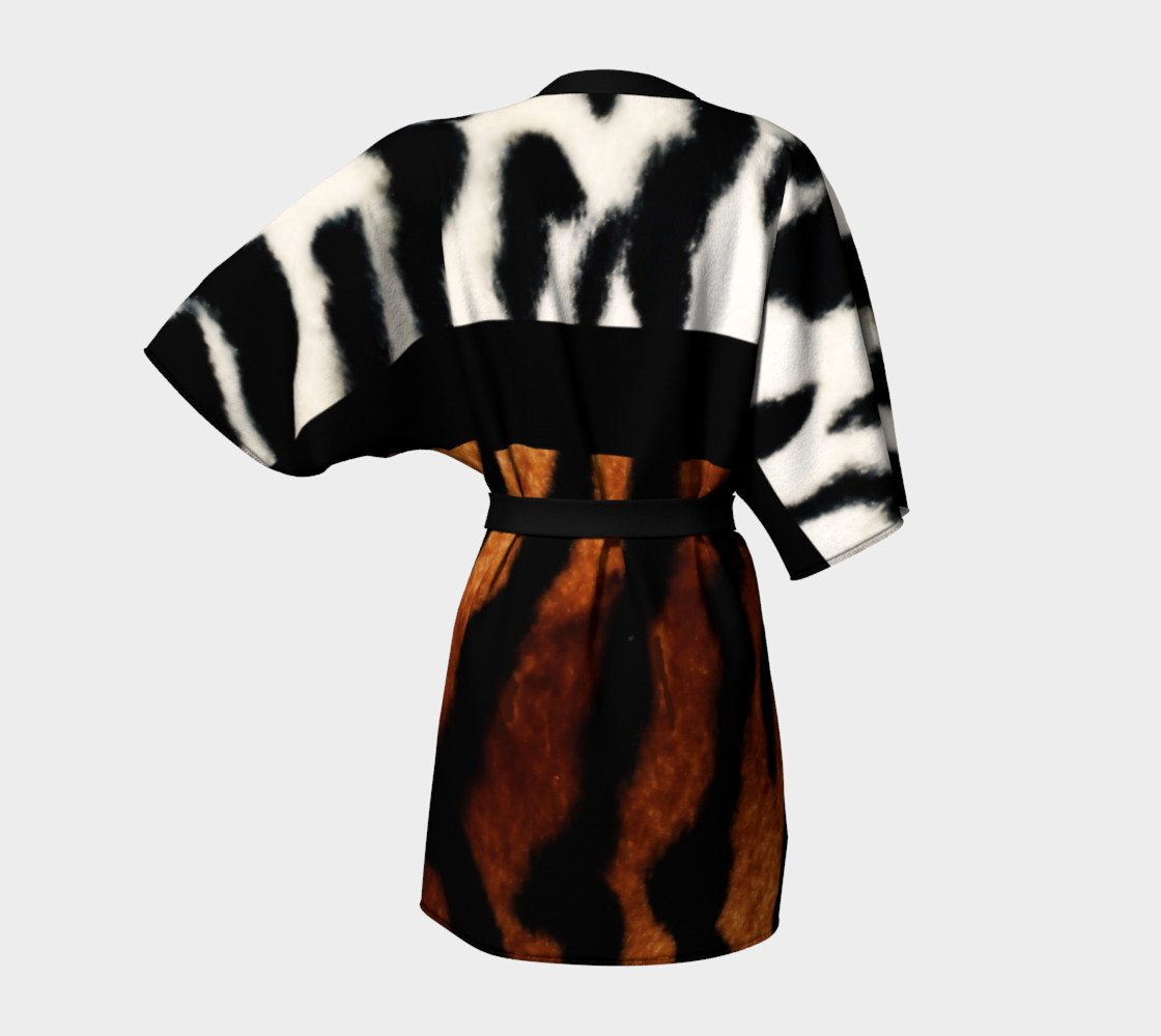 Tiger Fur Kimono Robe by GearX preview #4