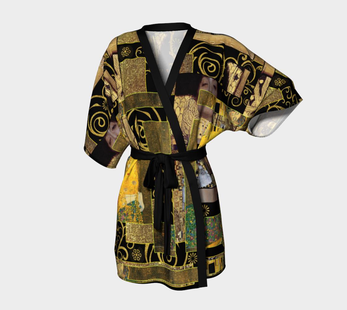 Black Gold Klimt Kimono Robe preview #1