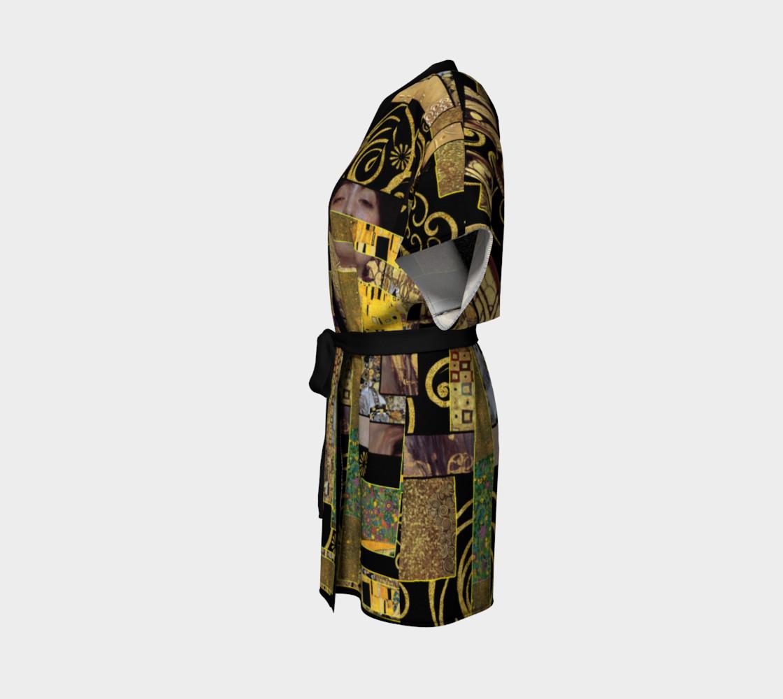 Black Gold Klimt Kimono Robe preview #2