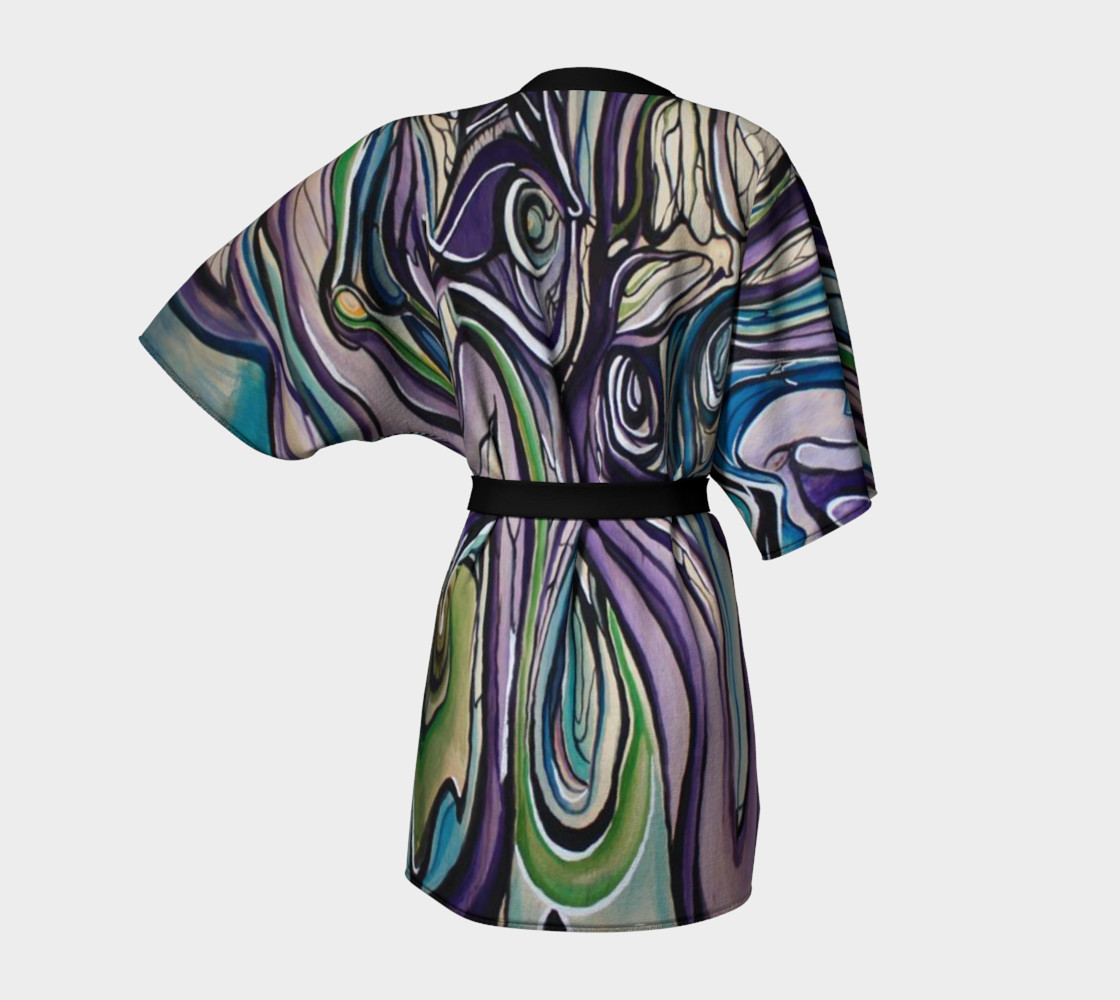 Aperçu de Purple Flow Dressing Robe #4