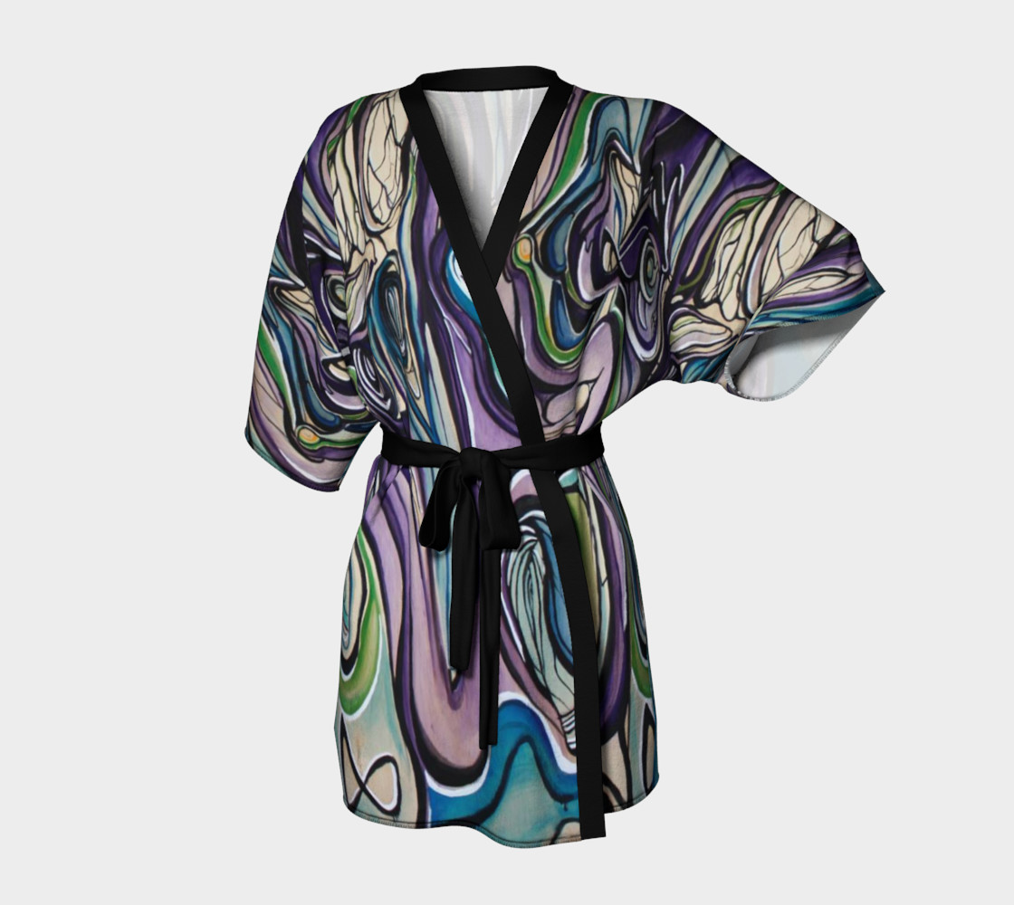 Aperçu de Purple Flow Dressing Robe #1