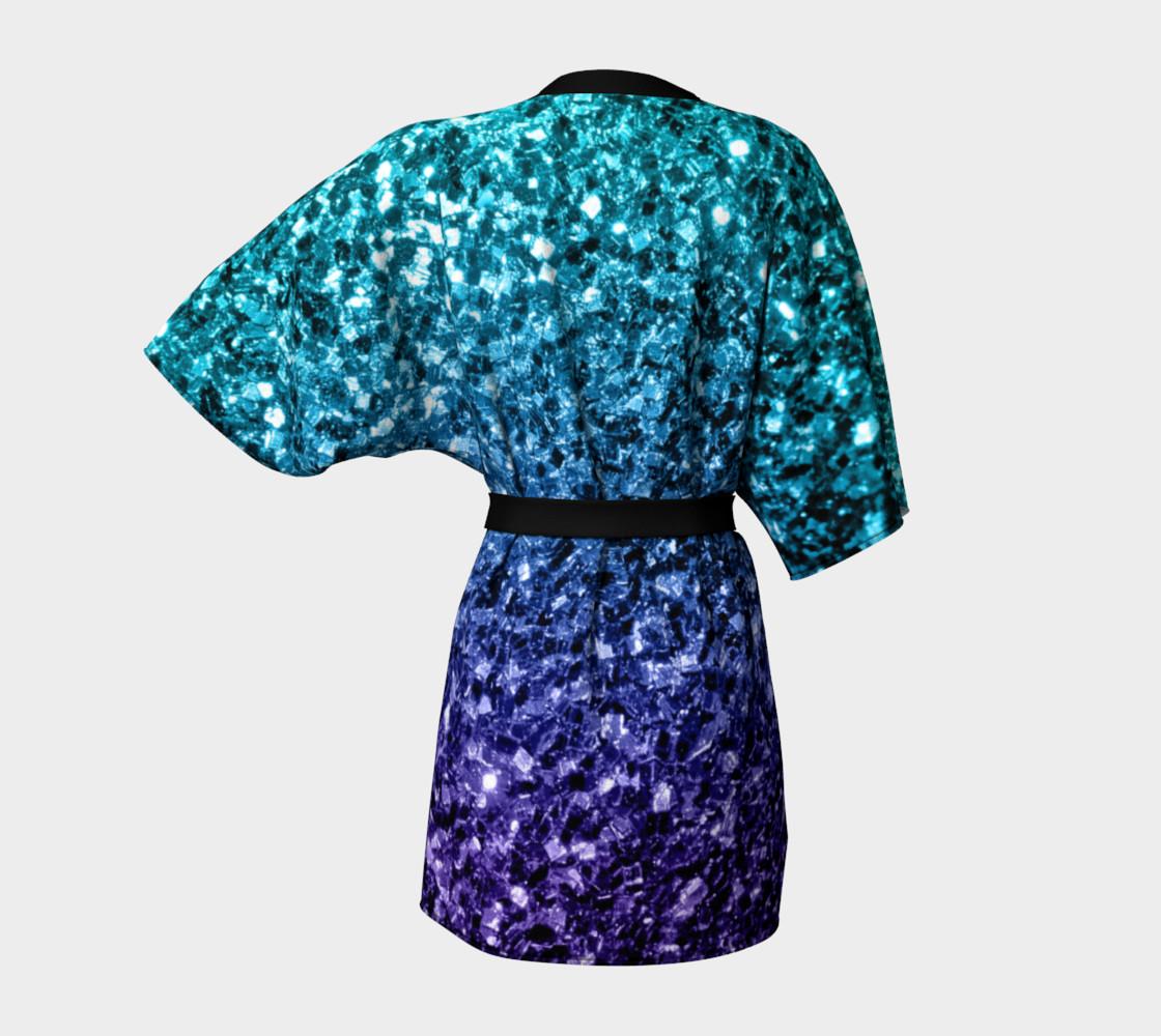 Beautiful Aqua blue Ombre glitter sparkles preview #4