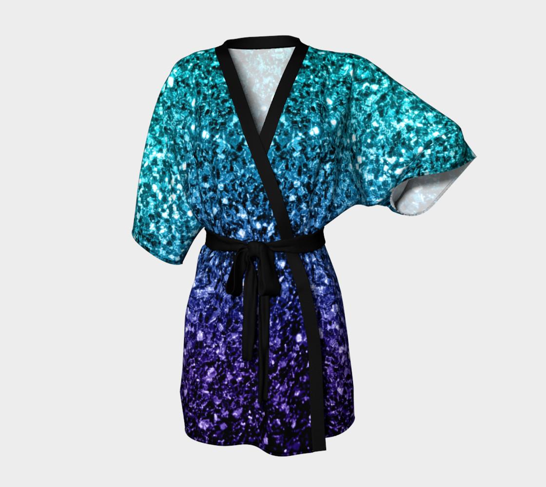 Beautiful Aqua blue Ombre glitter sparkles preview #1