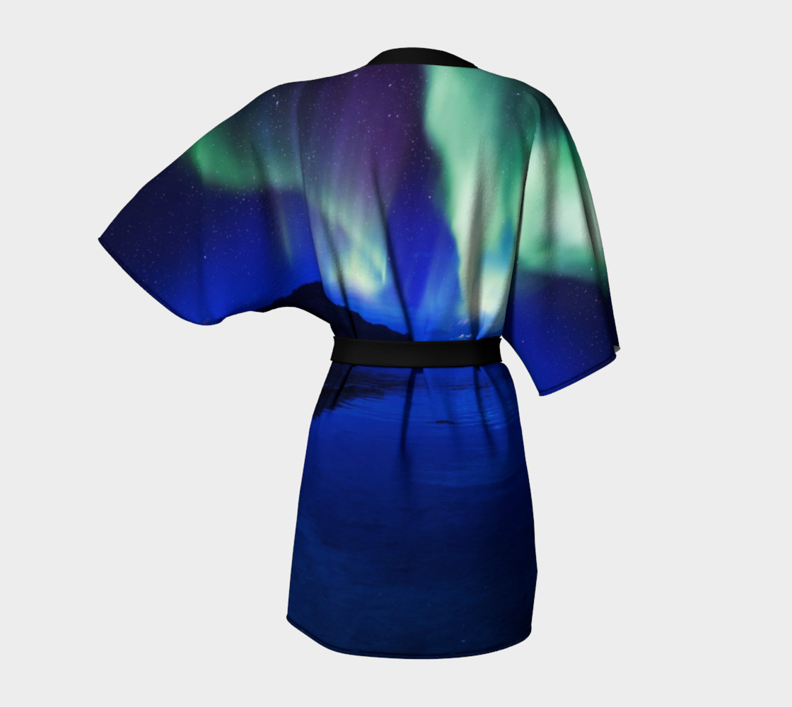 Electric Blue Northern Lights Kimono preview #4