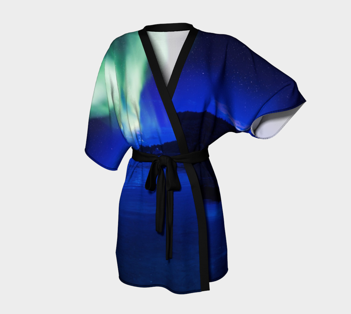 Electric Blue Northern Lights Kimono preview #1