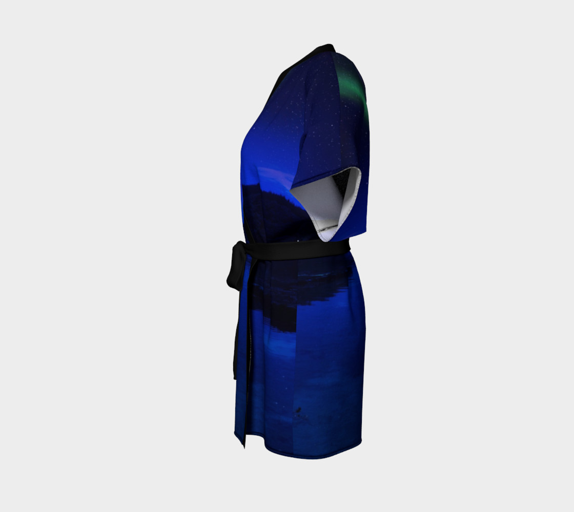 Electric Blue Northern Lights Kimono preview #2