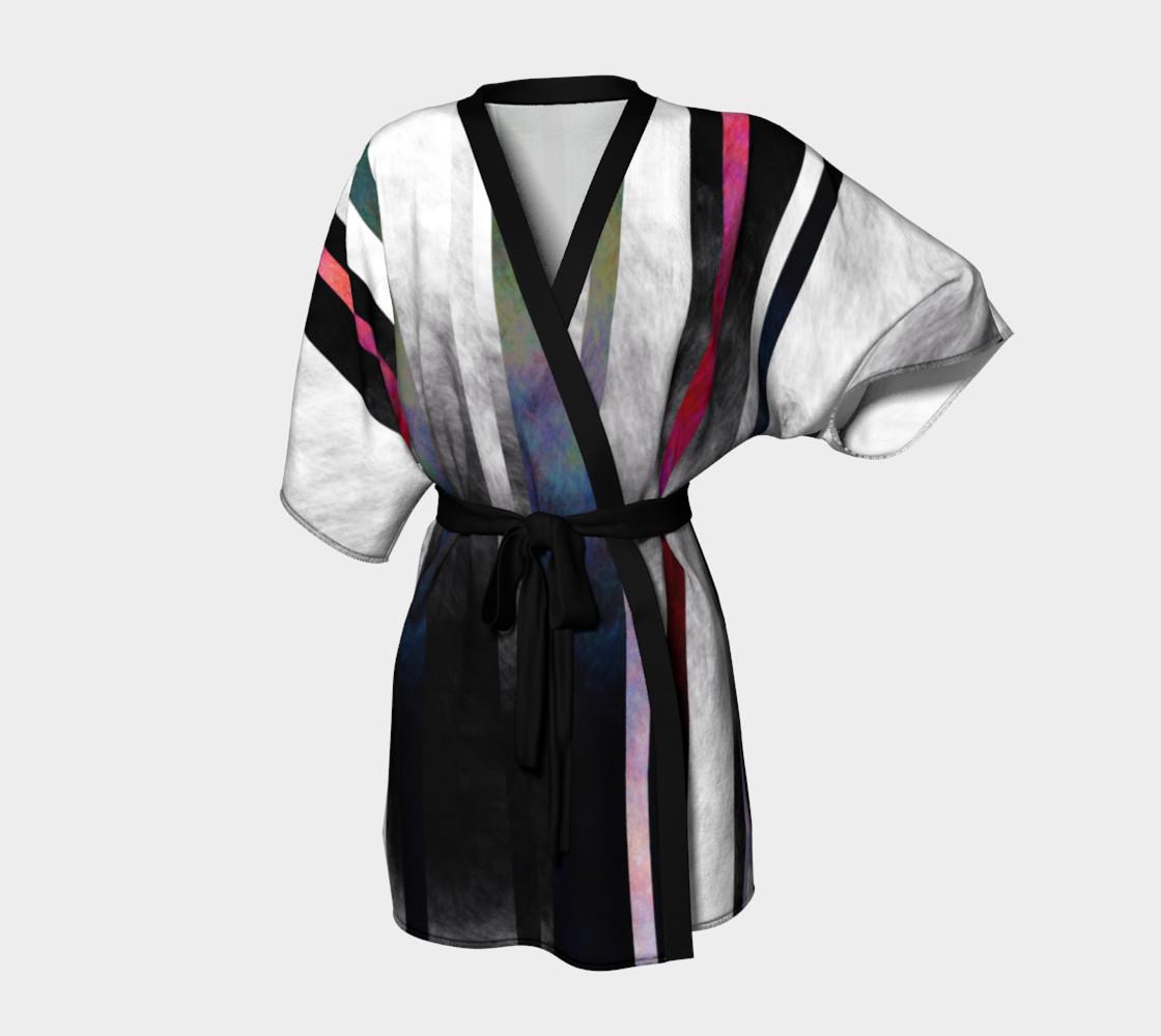Fade Stripe Kimono 2 preview #1