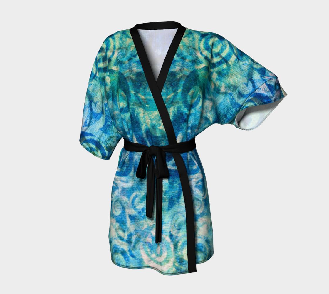 Blue Swirl Kimono preview #1