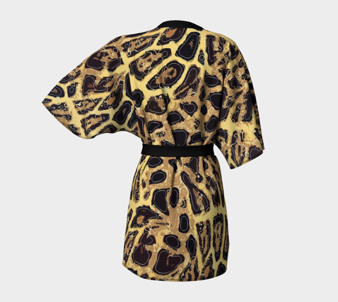 Leopard Kimono Robe preview #4