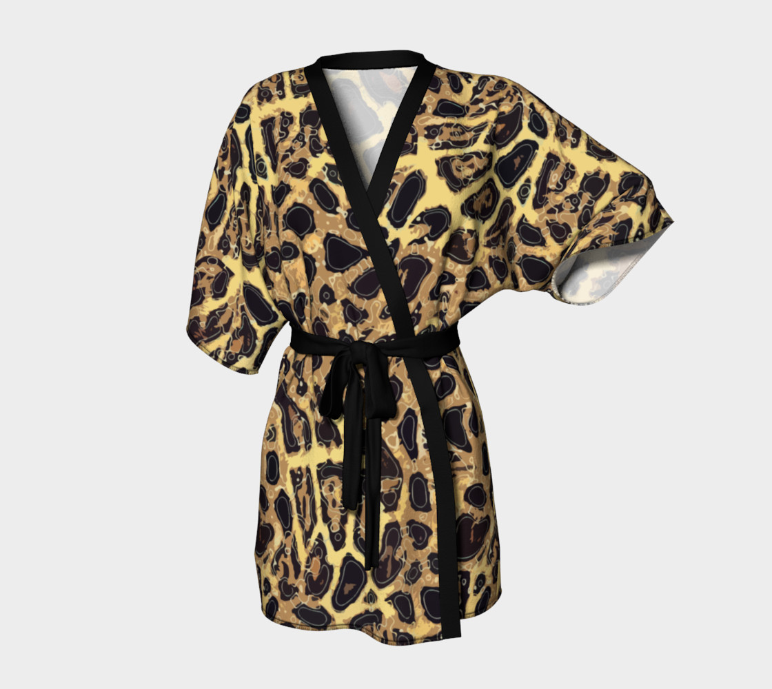 Leopard Kimono Robe preview #1