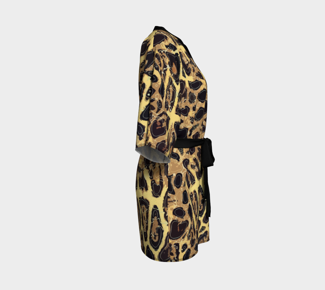 Leopard Kimono Robe preview #3