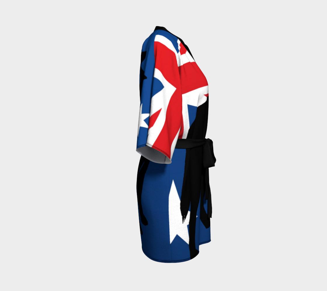 australian cattle dog silhouette on flag preview #3