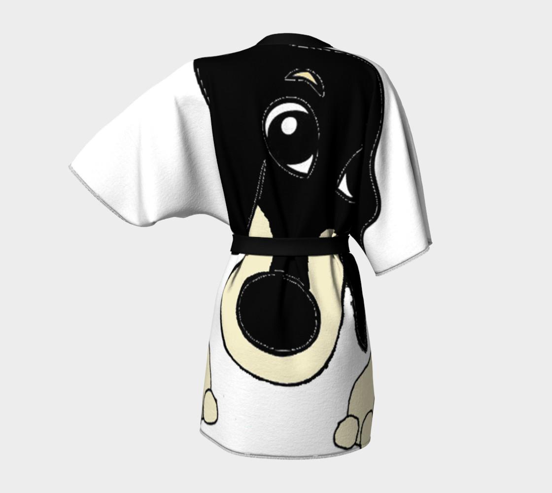 dachshund peeking black and cream preview #4