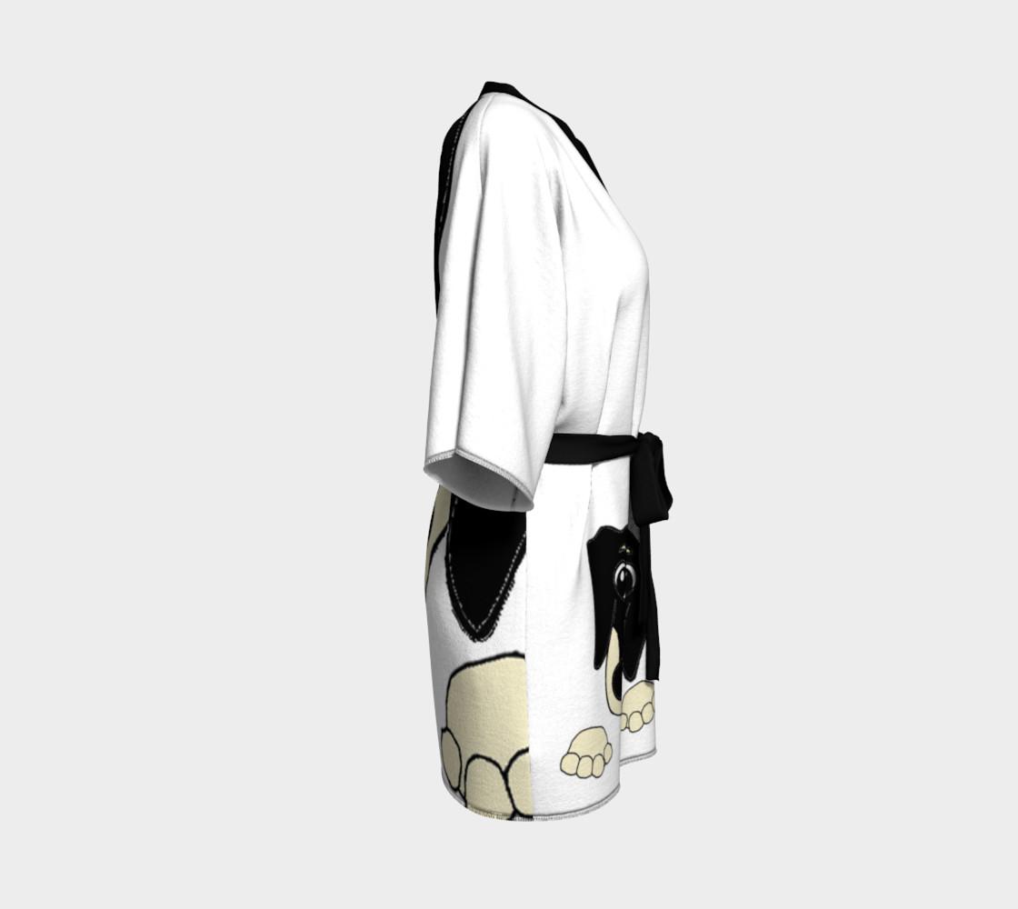 dachshund peeking black and cream preview #3