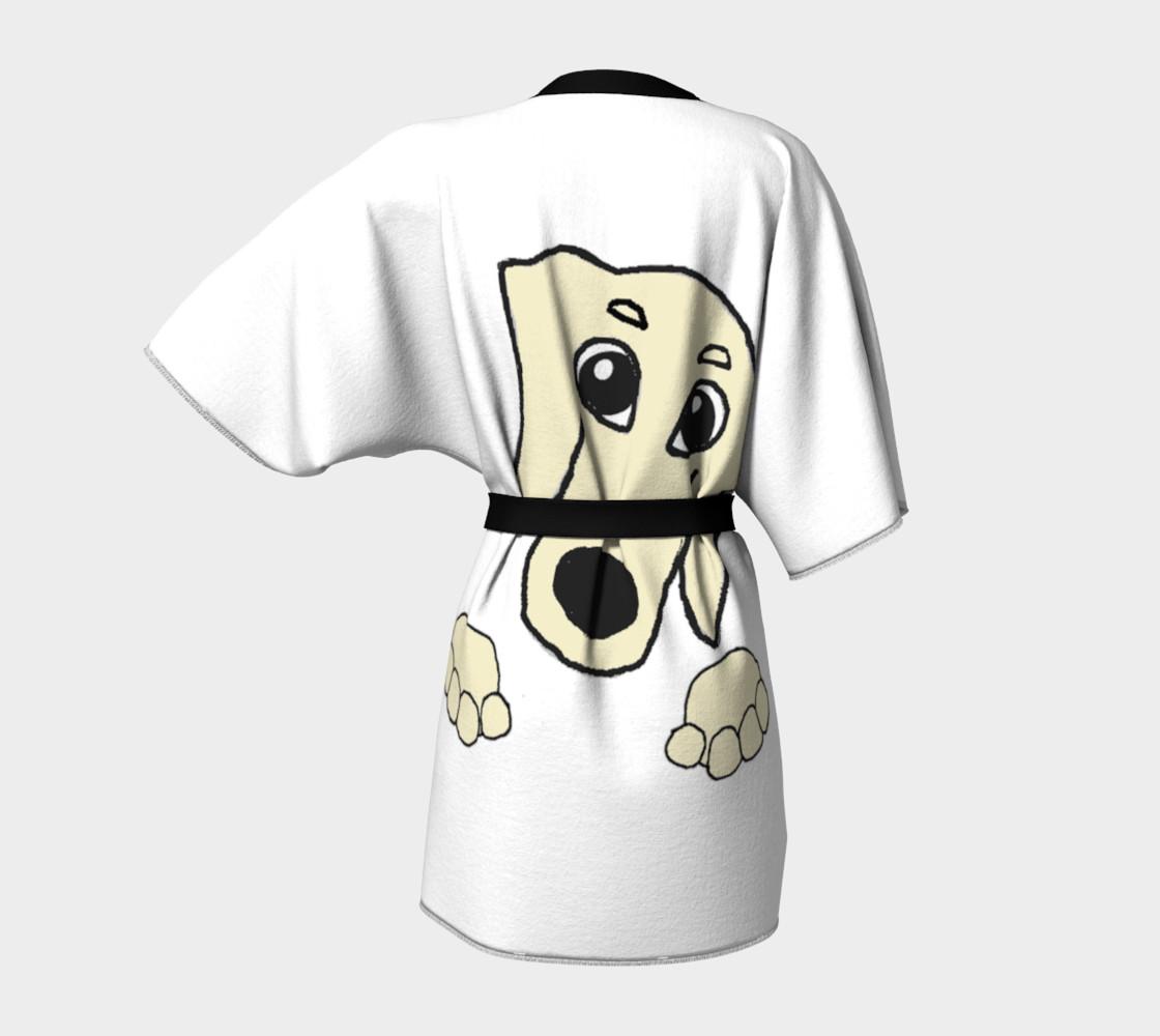 dachshund peeking cream preview #4