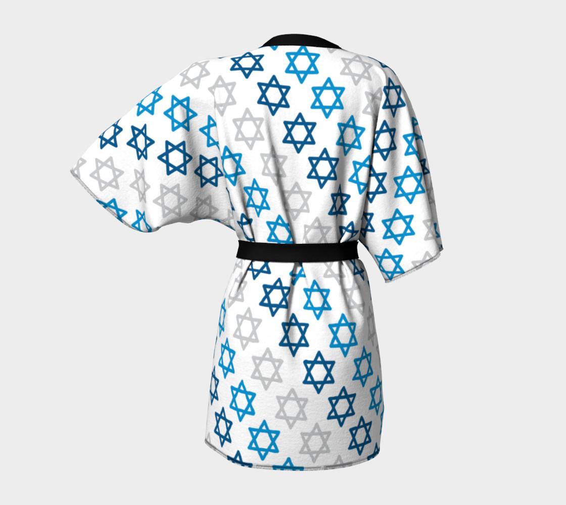 Aperçu de Star of David Hanukkah Kimono #4