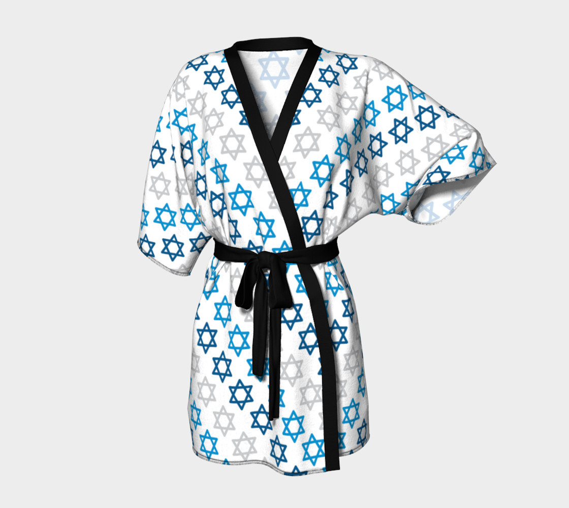 Aperçu de Star of David Hanukkah Kimono #1