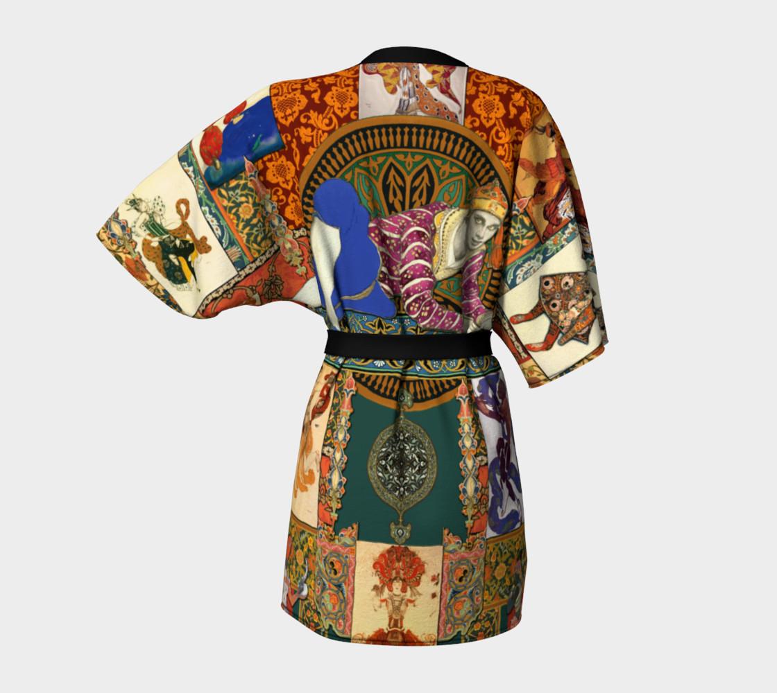 Aperçu de Ballets Russes Tapestry - Kimono Robe #4