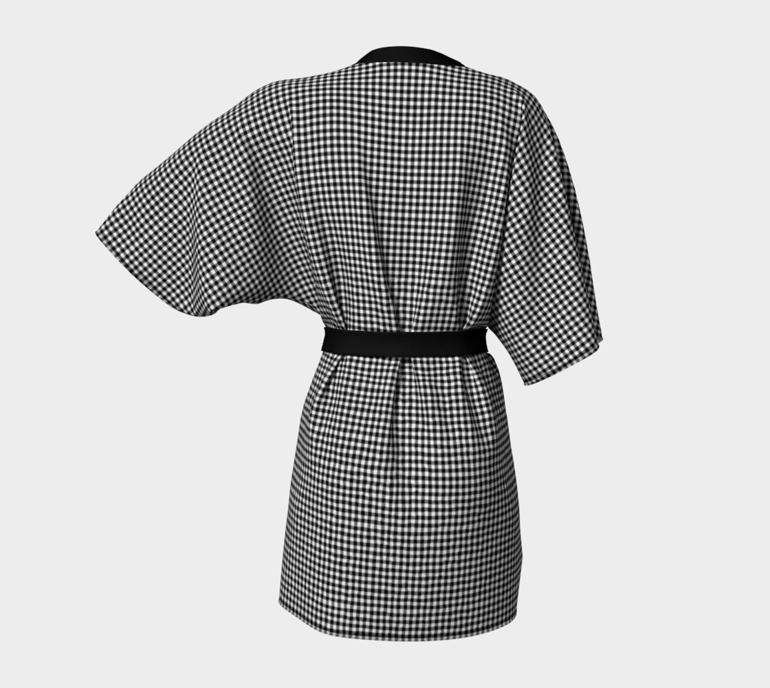 French Vichy Gingham Black and White preview #4