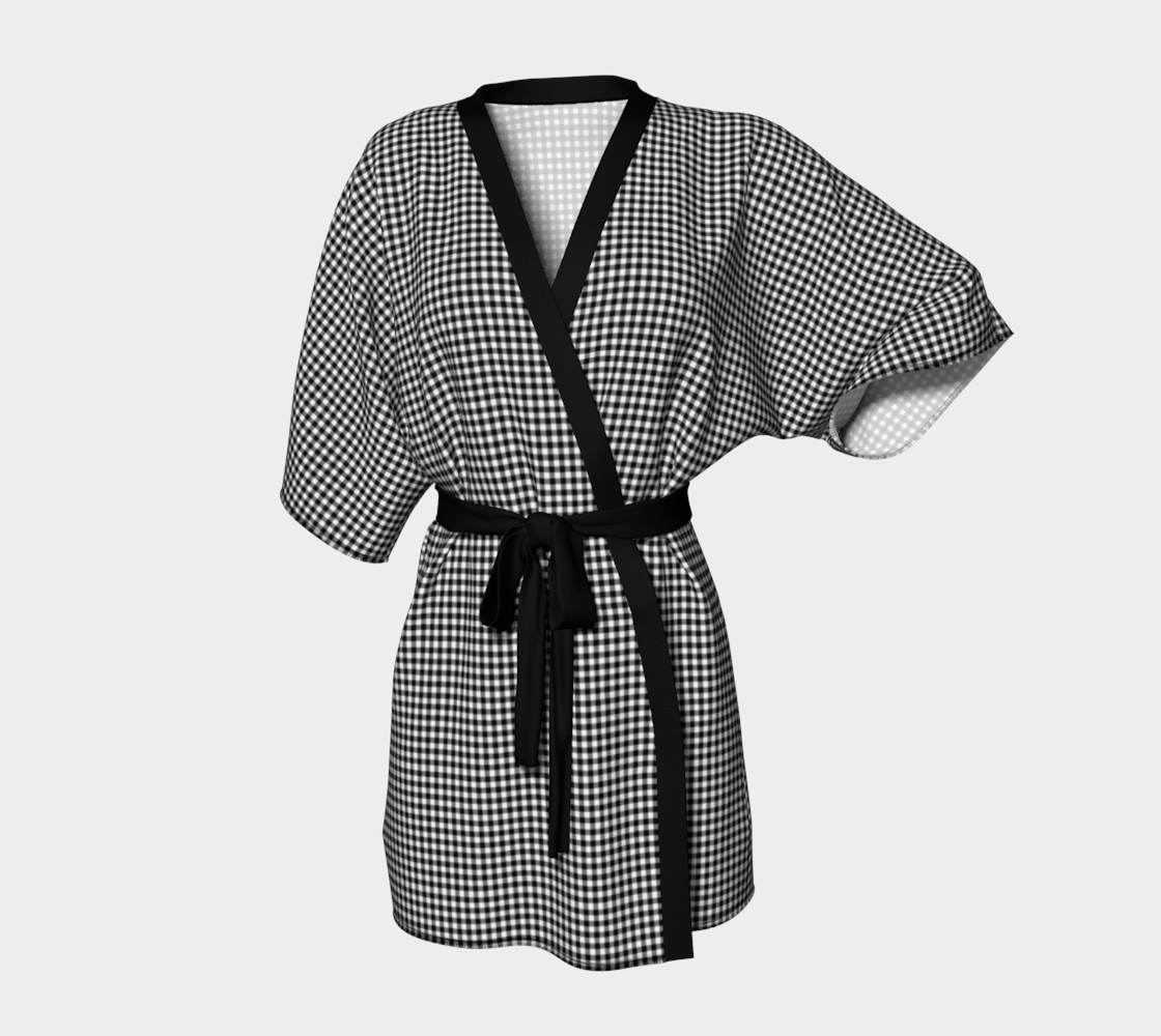French Vichy Gingham Black and White preview #1