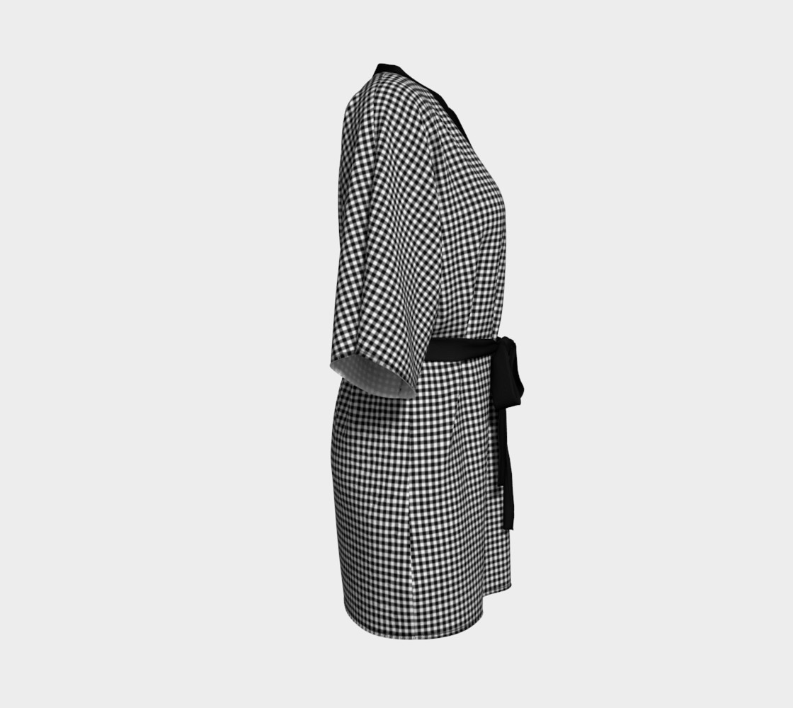 French Vichy Gingham Black and White preview #3