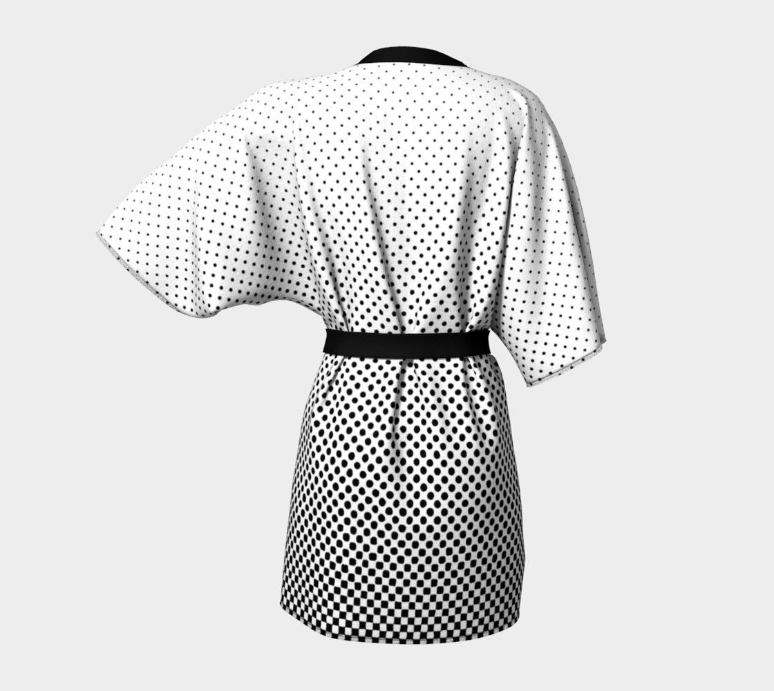 Halftone Dots Black and White preview #4