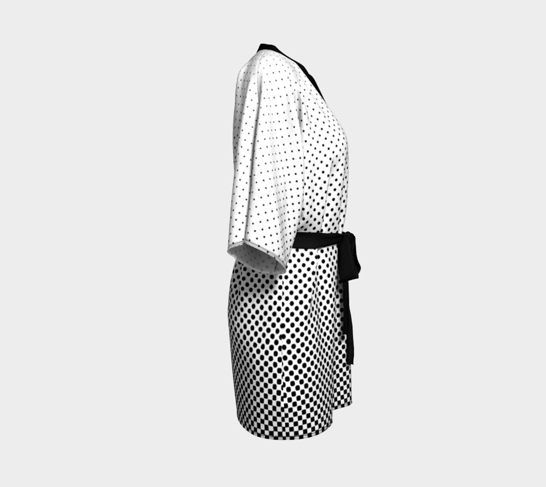 Halftone Dots Black and White preview #3
