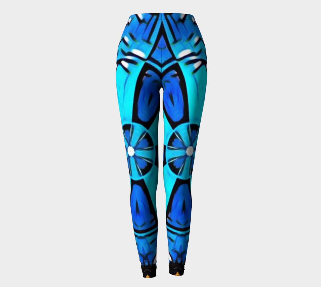 Blue Cosplay Cartoon Geek leggings womens preview #2