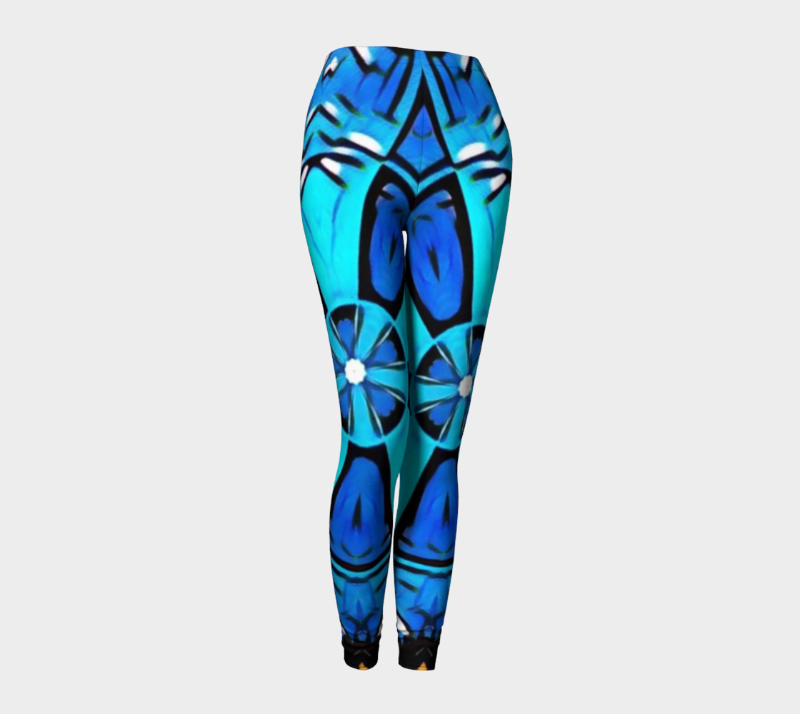 Blue Cosplay Cartoon Geek leggings womens preview #1