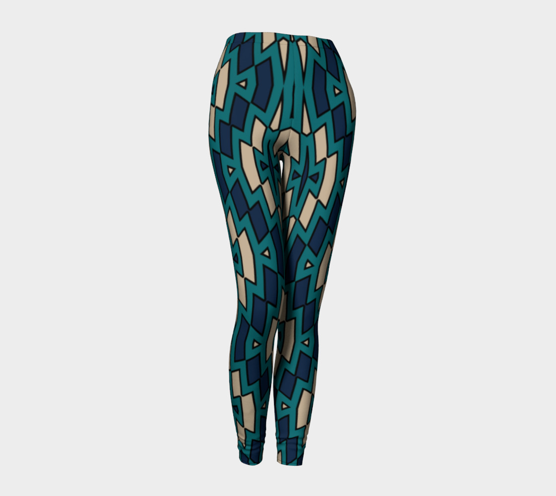 Tribal Diamond Pattern in Navy, Teal and Tan preview #1