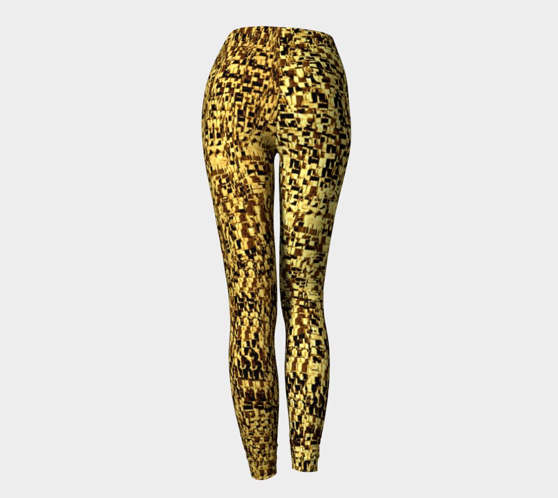 golden texture leggings preview #4