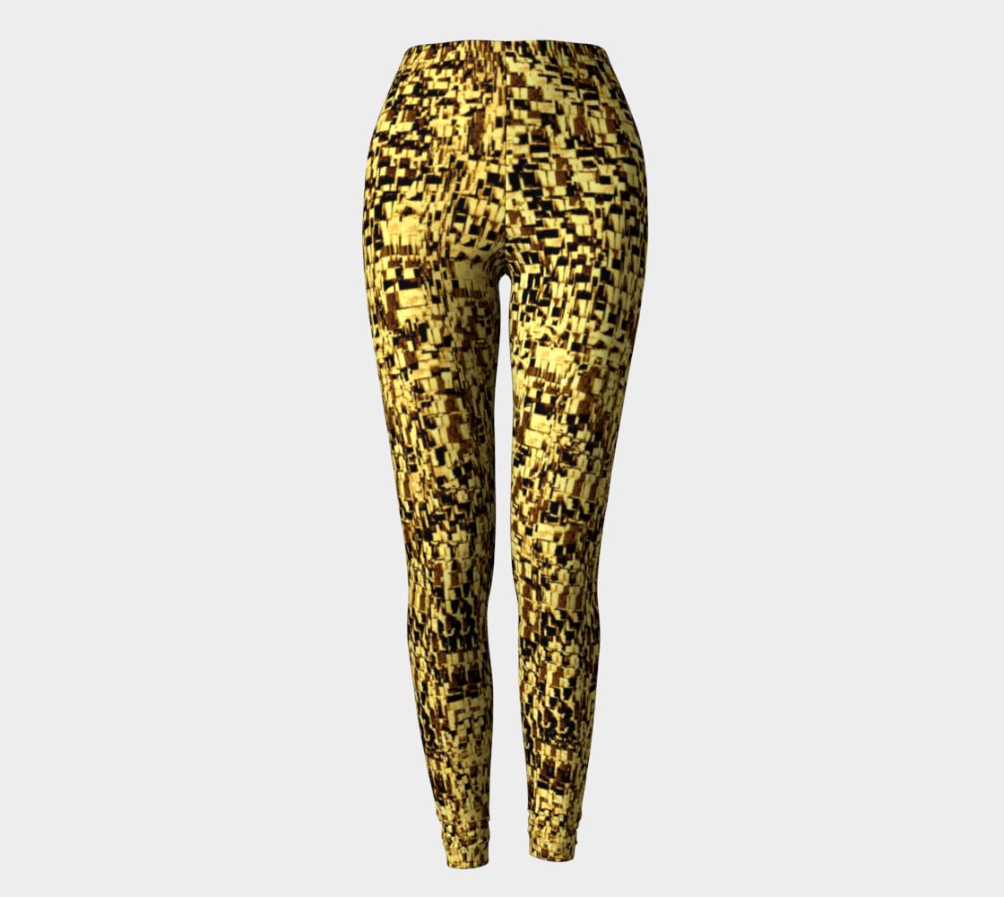 golden texture leggings preview #2