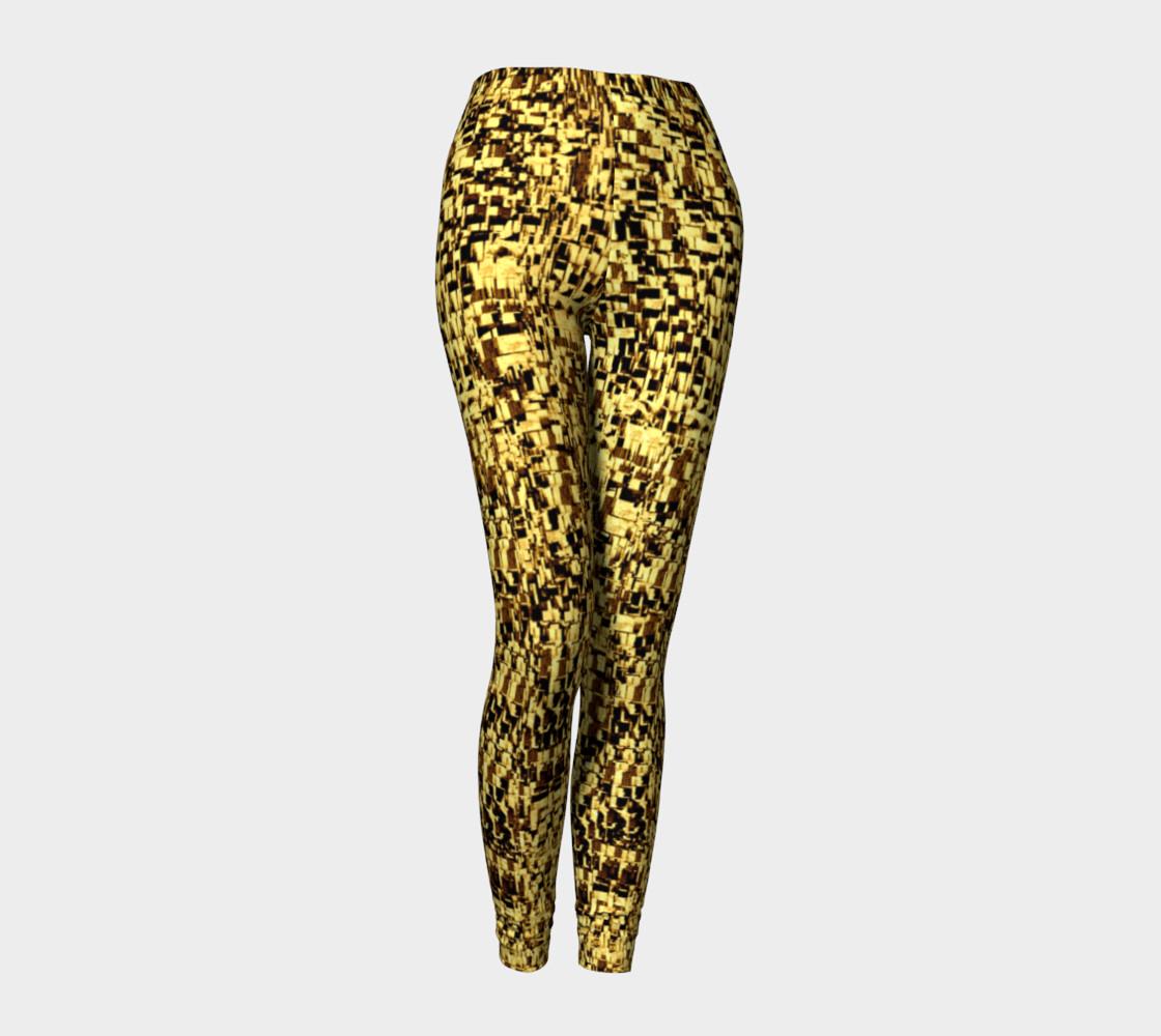golden texture leggings preview #1