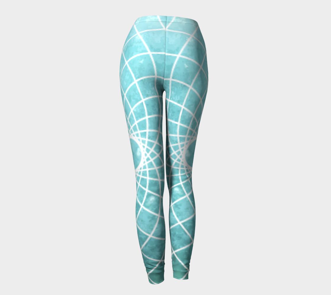 Aperçu de Blue Sacred Geometry Leggings #4