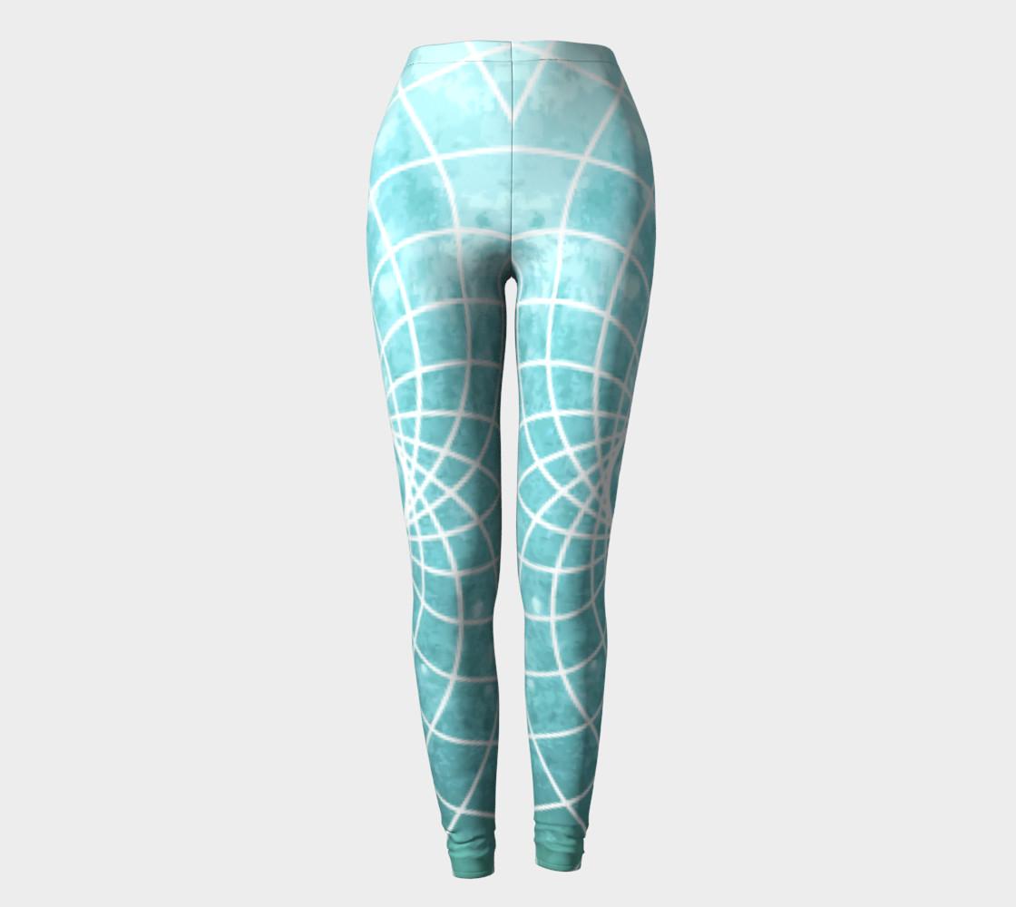 Aperçu de Blue Sacred Geometry Leggings #2