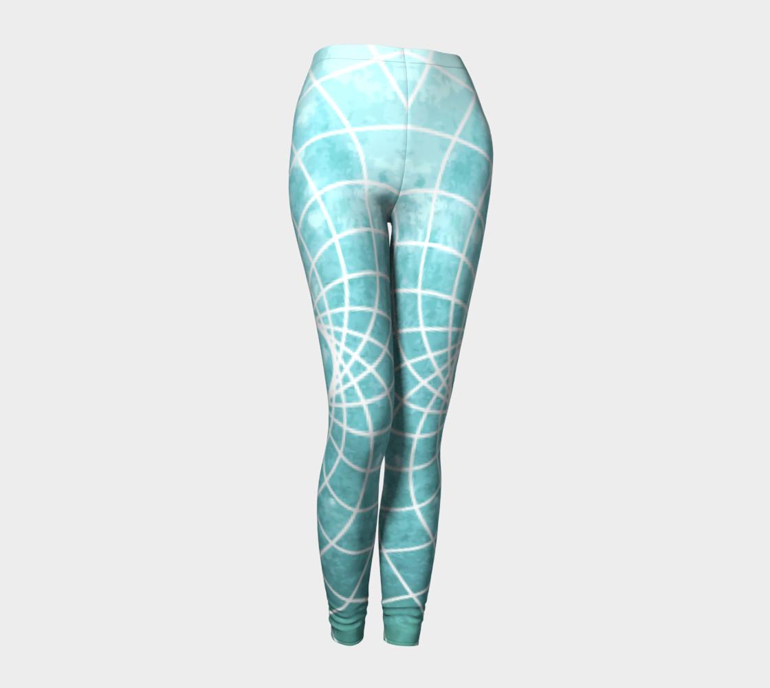 Aperçu de Blue Sacred Geometry Leggings #1