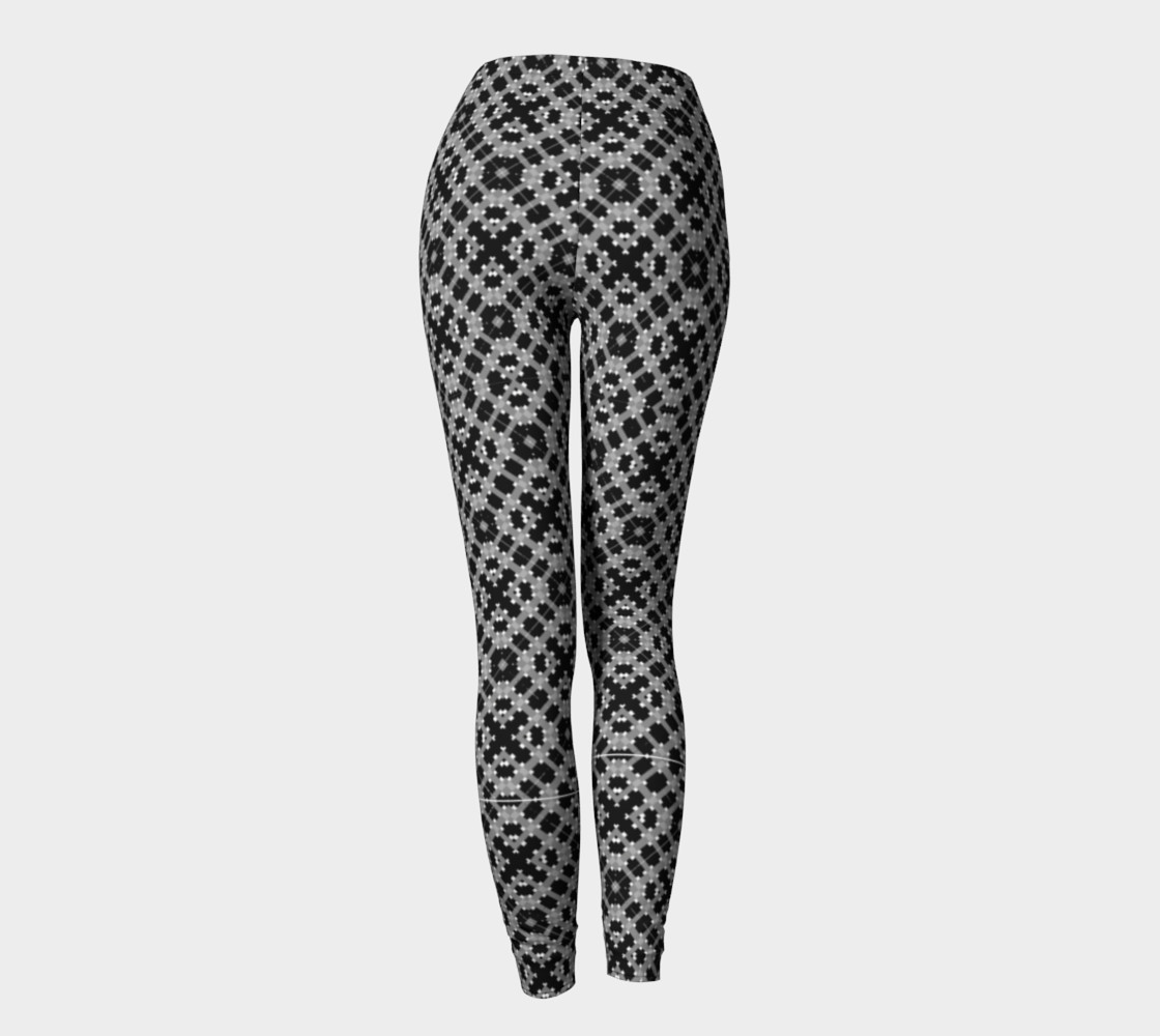 Leggings with Black and Gray Pattern preview #4