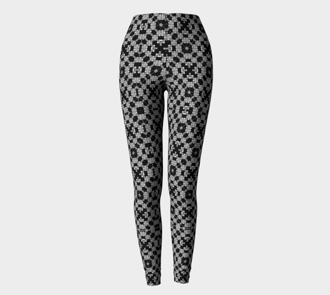 Leggings with Black and Gray Pattern preview #2