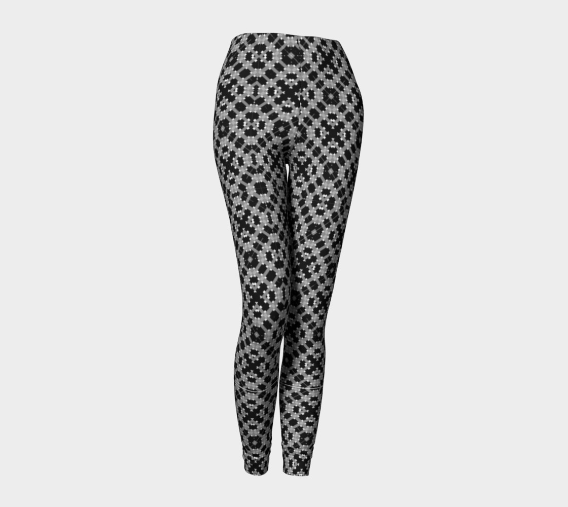 Leggings with Black and Gray Pattern preview #1