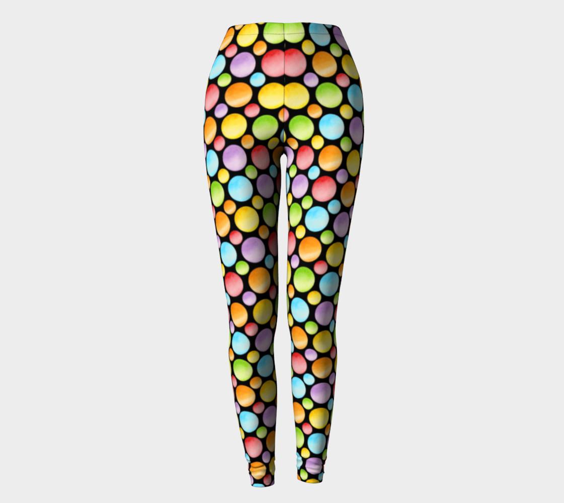 Aperçu de Rainbow Polka Dots Ankles smaller dot #2