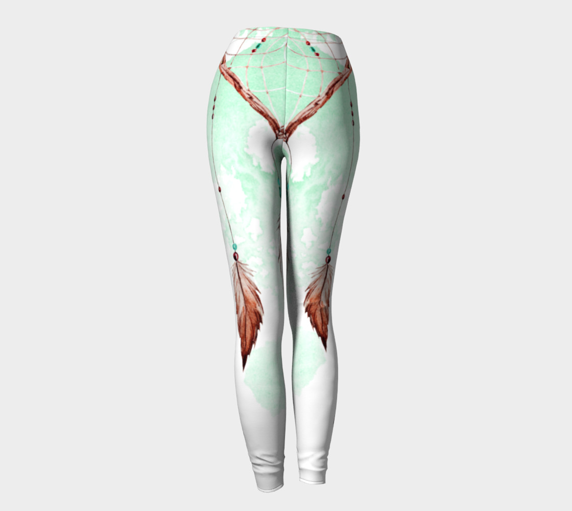 Watercolor Dreamcatcher Leggings Miniature #5