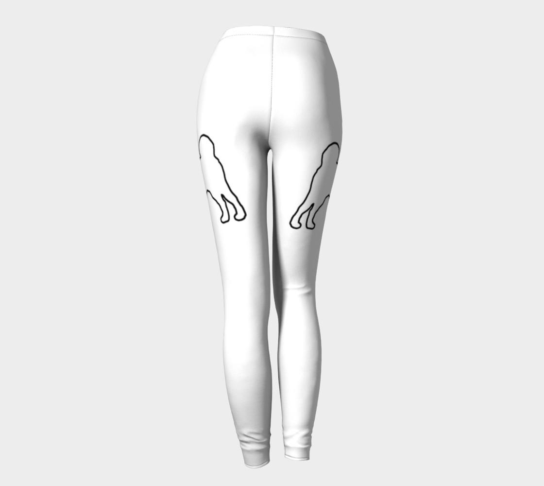 Shiba Inu White Silhouette Leggings preview #4