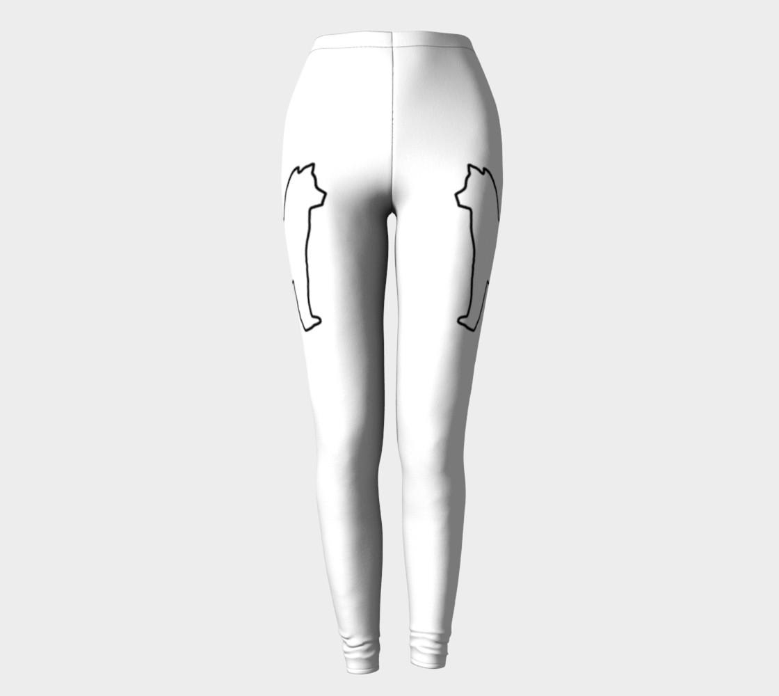 Shiba Inu White Silhouette Leggings preview #2