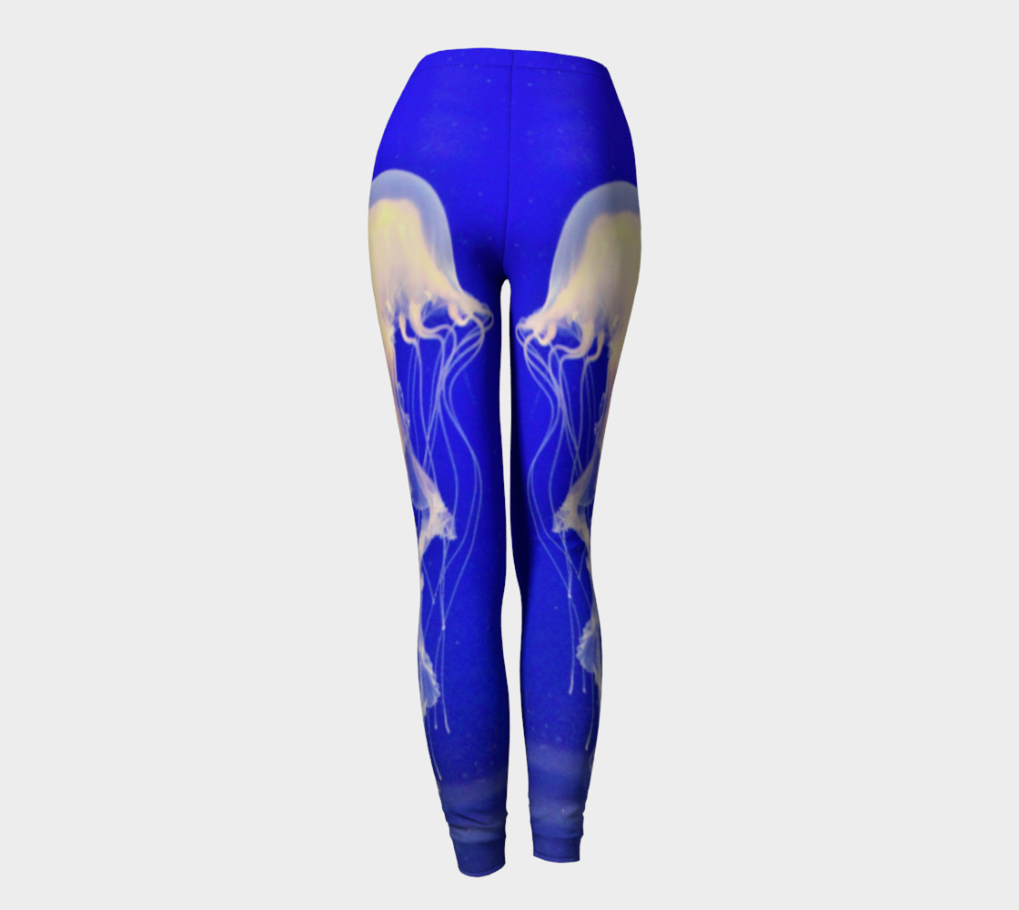 Jelly Black Light Reactive  Blue Leggings preview #4